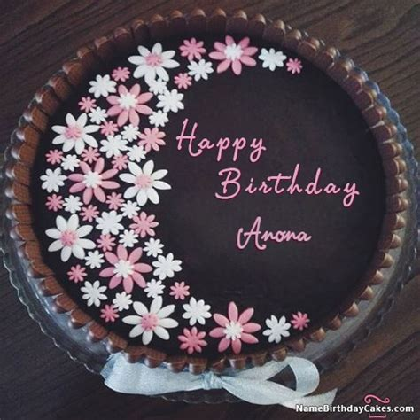 happy birthday anona cakes cards wishes
