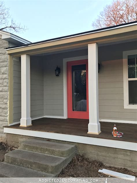 Decorative Front Porch Columns - how to wrap front porch posts turn skimpy front porch