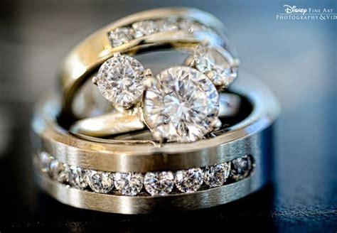 Diamond Bridal Engagement Ring Set Micky Mouse Trio 10k White Gold Wedding Band