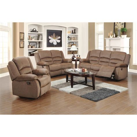 light living room furniture ellis contemporary microfiber 3 piece living room set