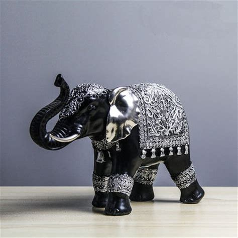 Handmade Small Vintage Lucky Elephant Decoration Home