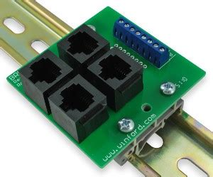rj45 8p8c modular breakout buss board with terminals winford engineering
