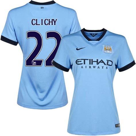 Women's 22 Gael Clichy Manchester City FC Jersey - 14/15 ...