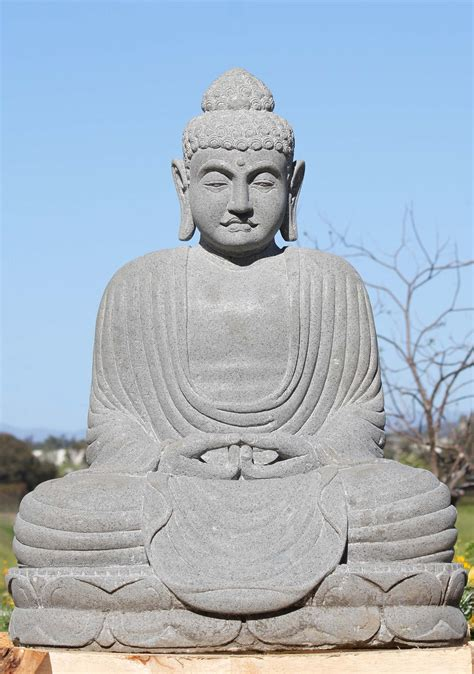 """Enhance your mindfulness practice, create inner calm, and sleep more soundly with this tiny buddha collection of soothing products and simple rituals for peace and presence. Stone Japanese Kamakura Diabutsu Buddha 34"""" (#113ls567): Hindu Gods & Buddha Statues"""
