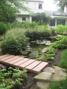 DIY Pond with Bridge