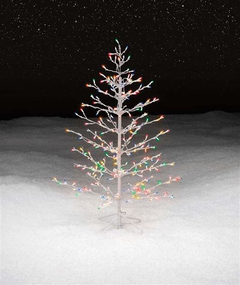 trim a home 174 4 5 multicolor lighted stick christmas tree
