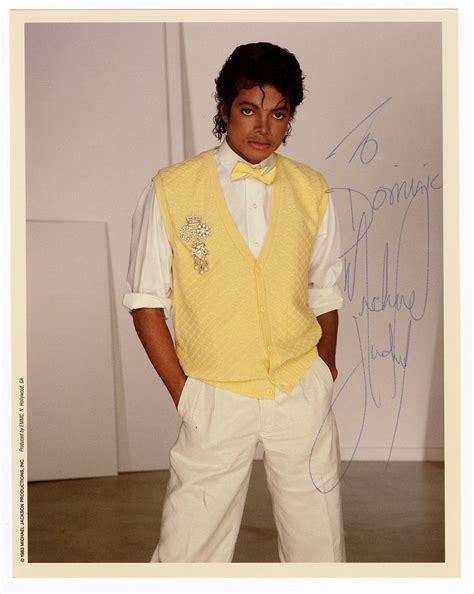 Lot Detail - Michael Jackson Signed & Inscribed Photograph