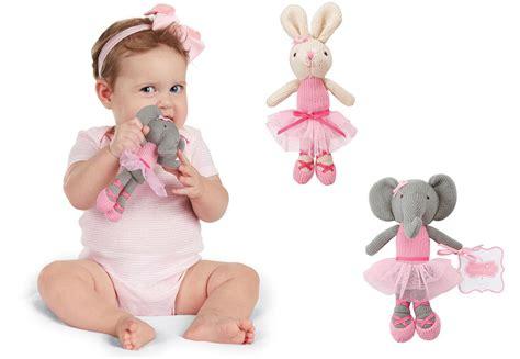 Mud Pie E8 Baby Girl Knit Toy Ballerina Bunny Or Elephant