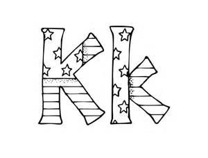 Fancy Letter K Coloring Pages