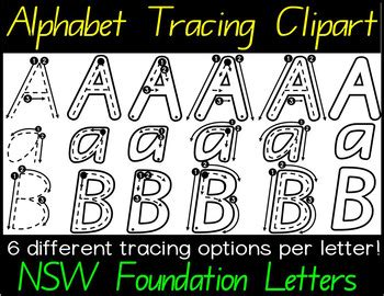 nsw foundation handwriting alphabet tracing letters