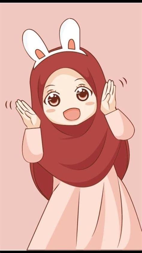 kartun muslimah squad kartun ilustrasi karakter