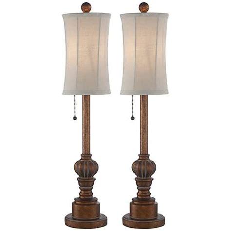 """Bertie 28"""" High Tall Buffet Table Lamps Set #10v33"""