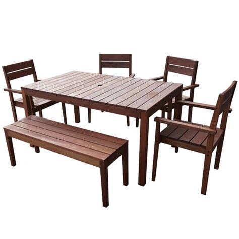 Outdoor Table Set by 6 Seater Outdoor Dining Table Set I Temple Webster