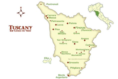 tuscany cities map  tourism guide