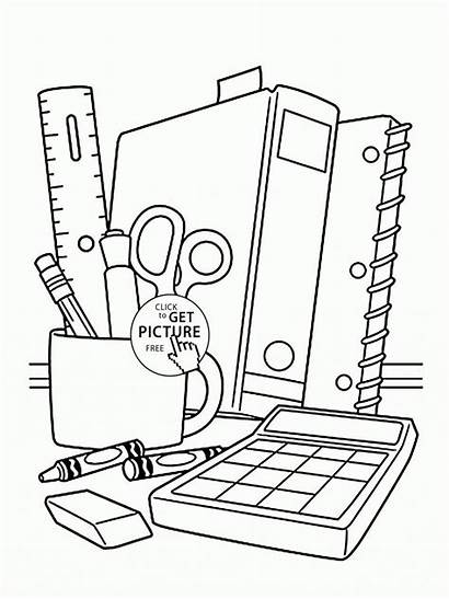Coloring Supplies Pages Children Printables Drawing Sheet