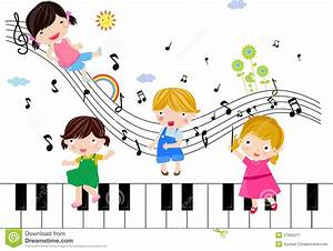 Kids music notes clipart