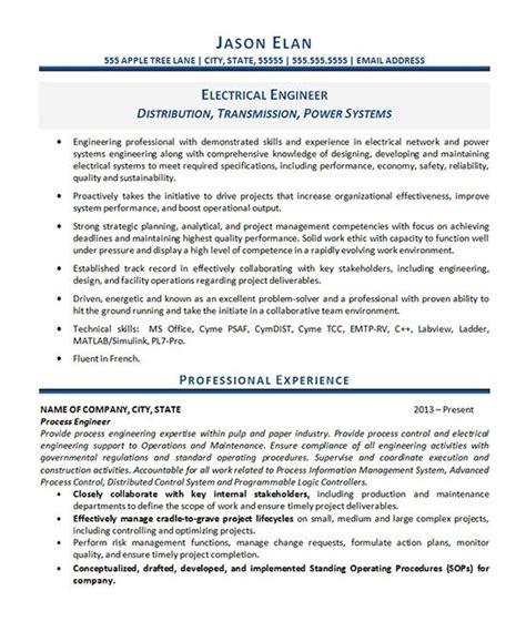 Engineering Resume Professional Summary by Electrical Engineer Resume Exles Engineering Resume