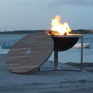 Brasero De Terrasse : le brasero inox zoum et son couvercle bois fabriqu en ~ Premium-room.com Idées de Décoration