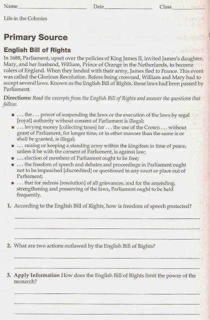 bill of rights worksheet homeschooldressage com