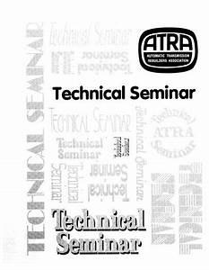 1995 Atra Seminar Manual Contents