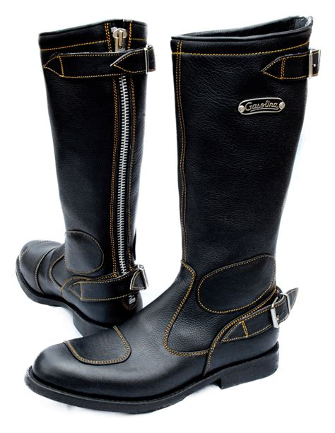 classic leather motorcycle boots gasolina classic motorcycle boots