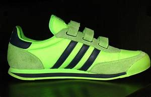 Adidas Orion Retro Velcro Tennis Shoes Green/Navy Mens ...