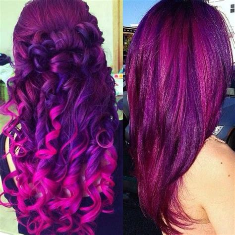Purpeandpurple Ombre Hair Colors With Dyeable White Blonde