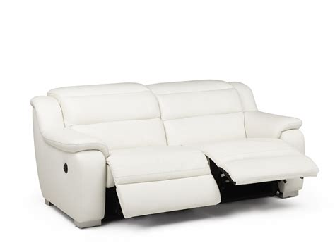 canape cuir relax electrique 2 places canapé 2 places relax électrique cuir arena blanc canapé
