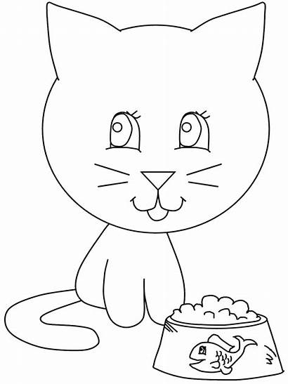 Coloring Pages Eat Cat Cats Ready Printable