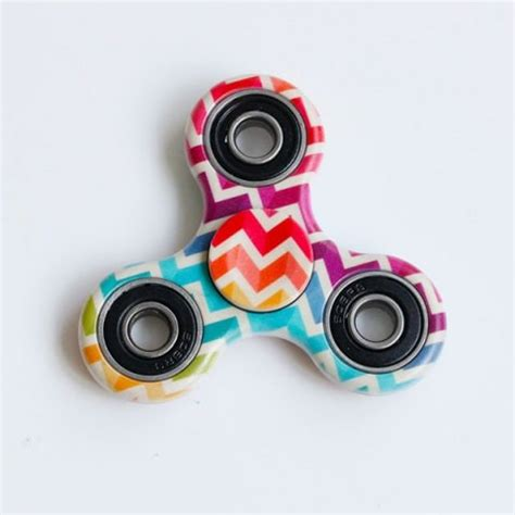 anti stress toy colorful zig zag triangle fidget spinner  multicolor