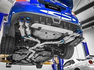 Titanium Sportauspuffanlage Von Rowen Am 2015er Subaru Wrx Sti