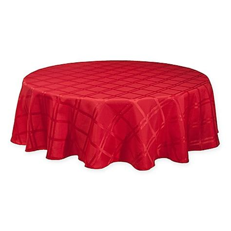 70 inch tablecloth origins holiday 70 inch round tablecloth in red bed bath beyond