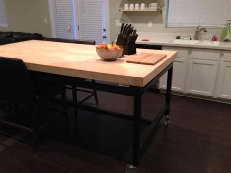custom kitchen island table buy a handmade maple kitchen table rolling island made