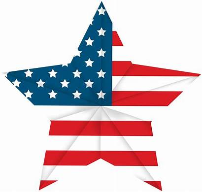 Flag Clip Usa Transparent Clipart American 4th