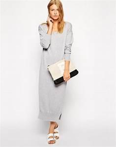 robe laine hiver longue gris clair la robe longue With robe d hiver en laine