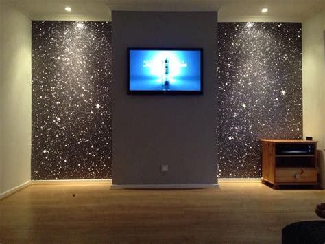 gray tv wall for home cinema room for the home in 2019