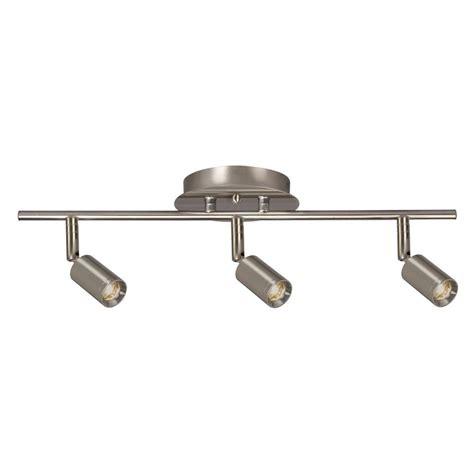 track lighting kits filament design hudson 3 light brushed nickel track