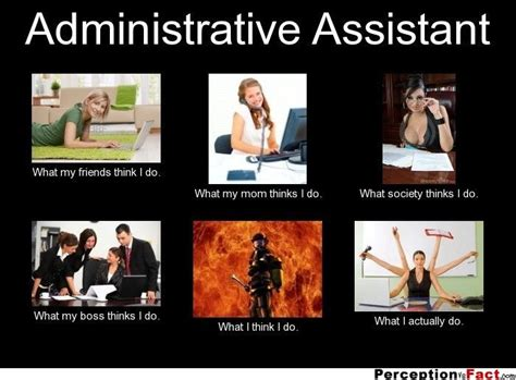 Medical Assistant Memes - administrative assistant what people think i do what i really do perception vs fact