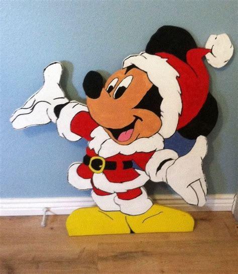 santa mickey mouse wood cut  standee fun christmas