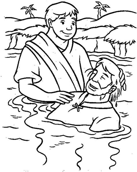 baptism coloring pages jesus baptism pages coloring pages