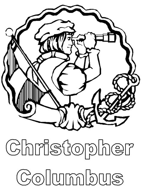 christopher columbus coloring pages history activities