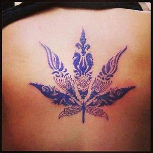 Purple weed leaf tattoo | TRILL ~ | Pinterest