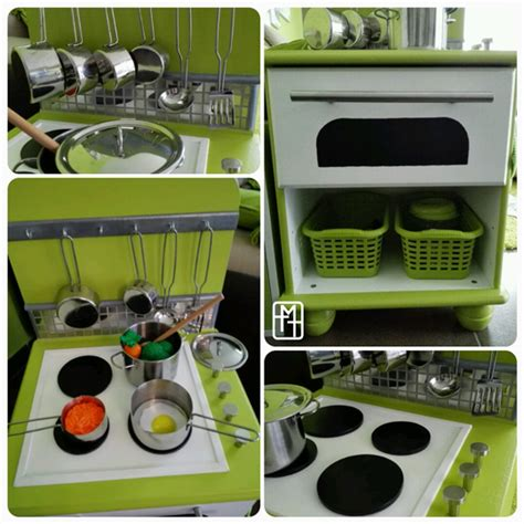 cuisine avec enfants diy fabriquer une cuisine pour enfant avec deux tables