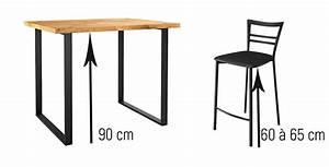 Chaise Pour Table Haute : quelle hauteur de chaises et tabourets choisir en fonction de sa table you ~ Teatrodelosmanantiales.com Idées de Décoration