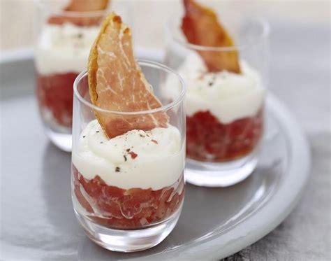 recette verrines de concasse de tomates au fromage carre