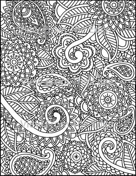 mehndi coloring page henna adult printable