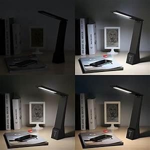Lampe De Bureau Sans Fil : aukey lampe de bureau sans fil portable 4w batterie ~ Voncanada.com Idées de Décoration