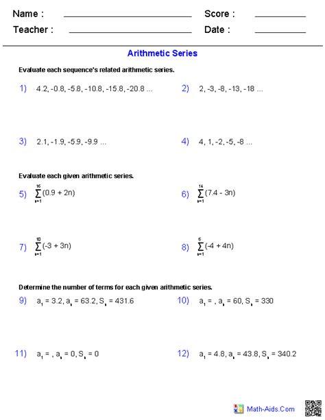 recursive formula worksheet with answers worksheets for