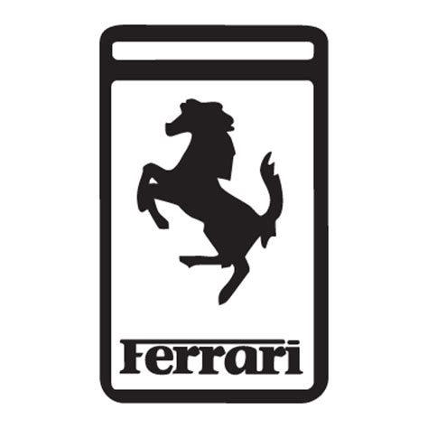 ferrari logo black and white vector ferrari logos in vector format eps ai cdr svg free