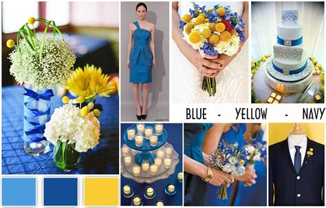 pics for gt navy blue wedding color schemes